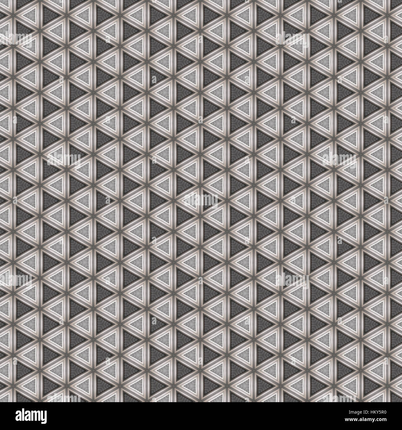Chrome steel pattern with leather effect - Stock Image