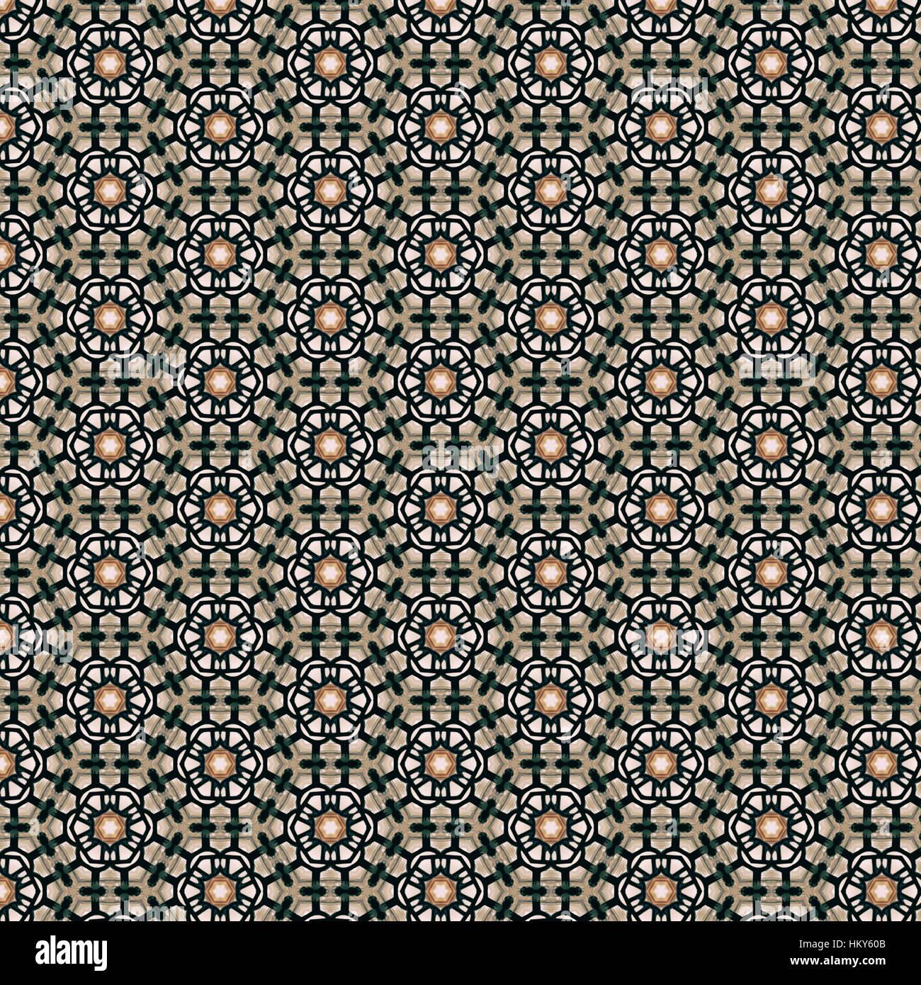 Vintage retro flower background pattern - Stock Image