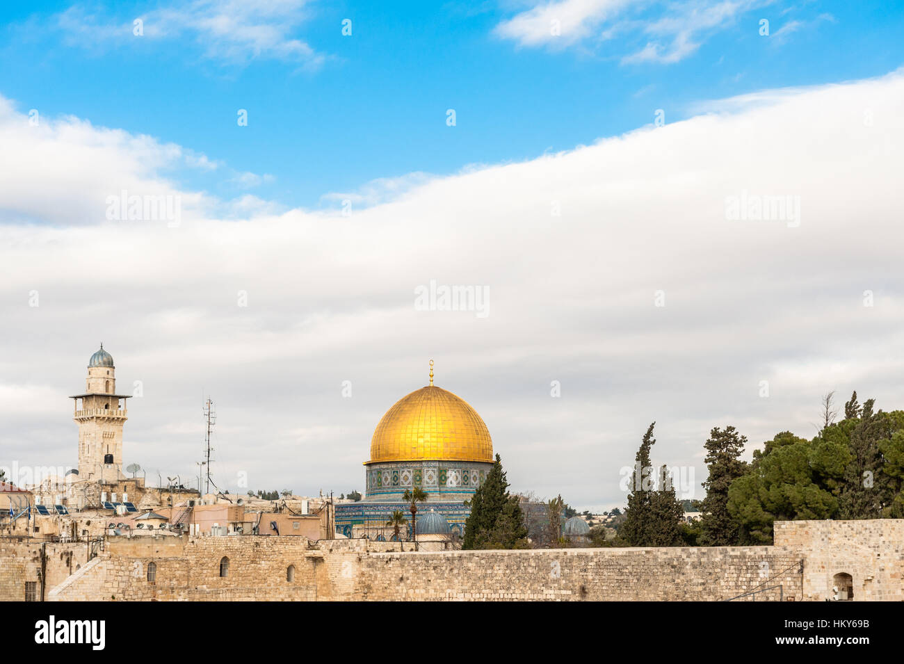 Israel, Jerusalem, temple mount - Stock Image