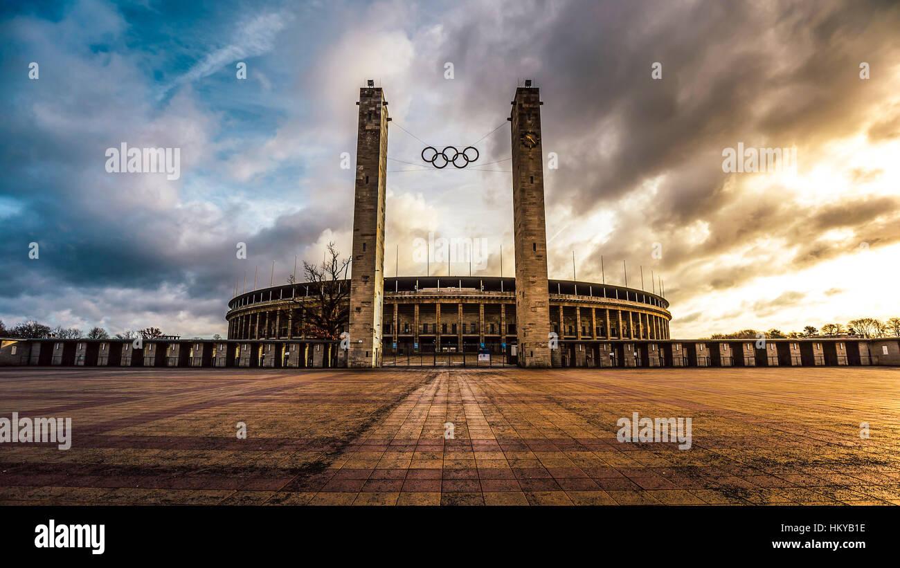 Olympiastadion in Berlin - Stock Image