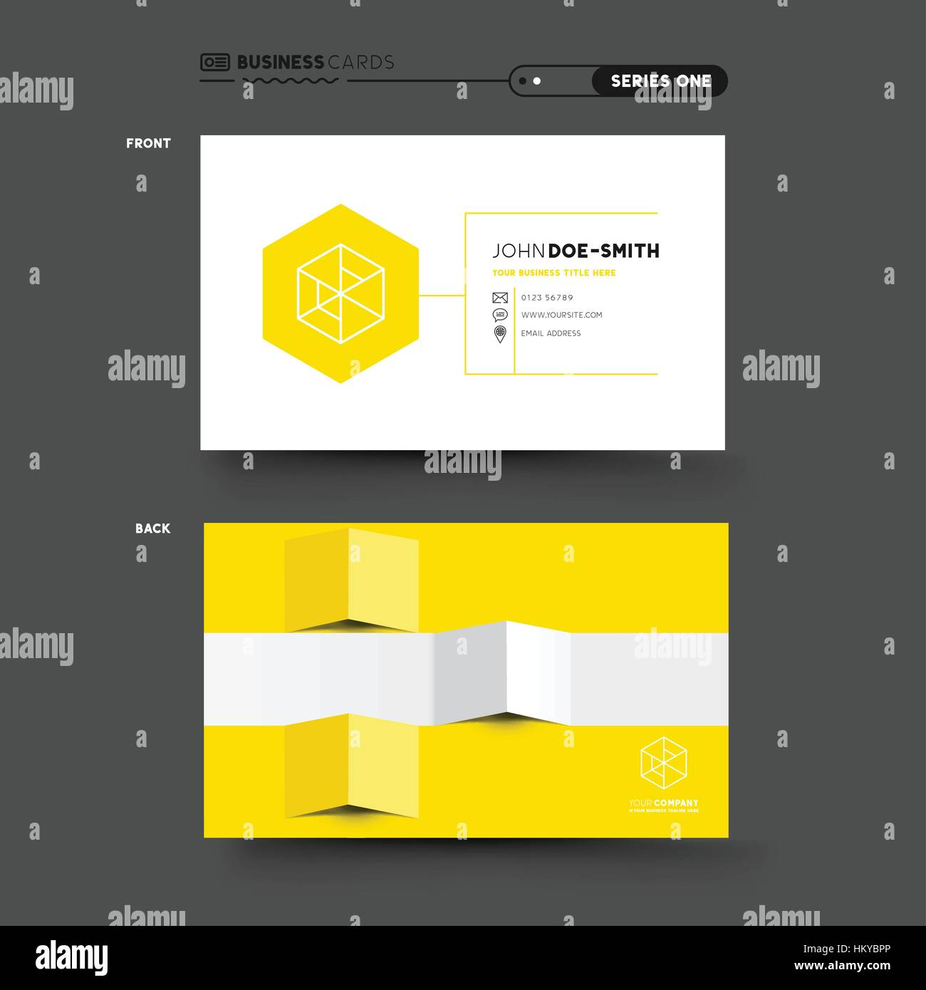 A clean and minimal business card design. vector illustration. - Stock Image
