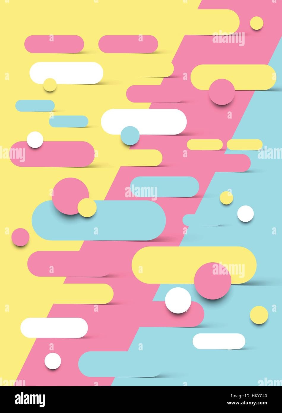 Abstract background design with shapes melting into each other. Vector illustration - Stock Image
