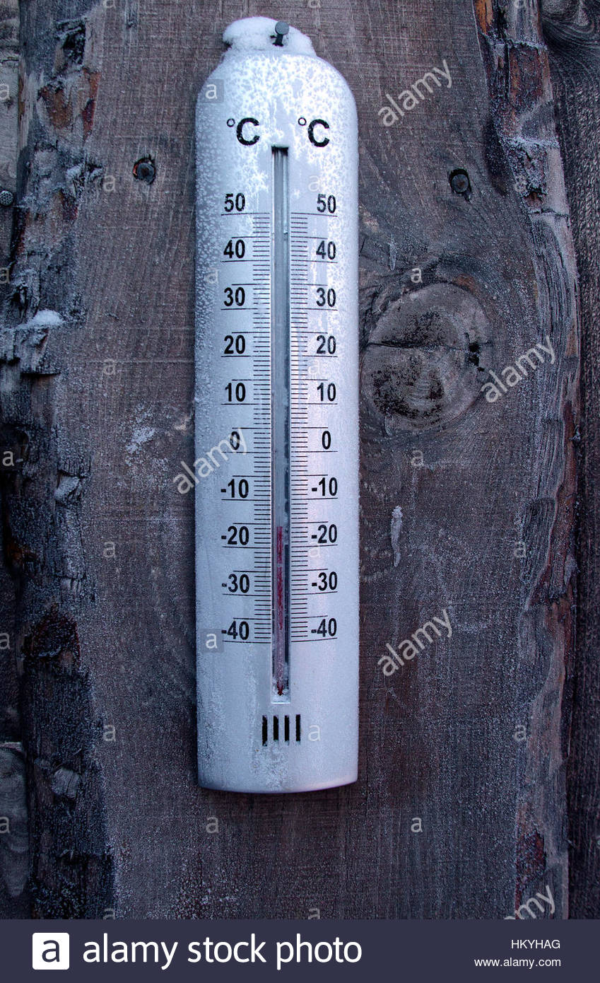 low temperature thermometer - Stock Image