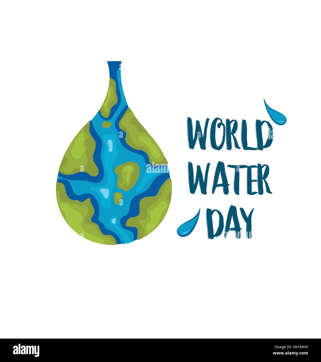 World Water Day Vector Illustration