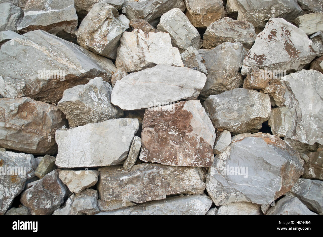 stone wall photo texture - exterior architecture background - Stock Image
