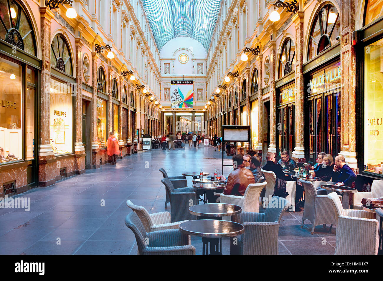 St-Hubert galleries in Brussels - Stock Image
