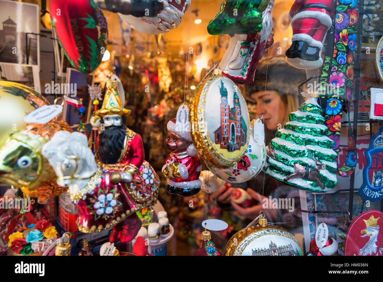 Gift shop christmas Krakow Poland Cracow Stock Photo: 132768237 - Alamy