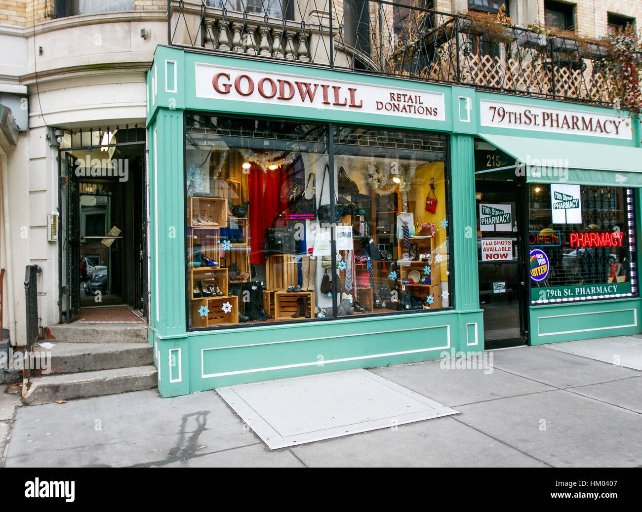 The front of a Goodwill store on west 79 street in Manhattan. - Stock Image