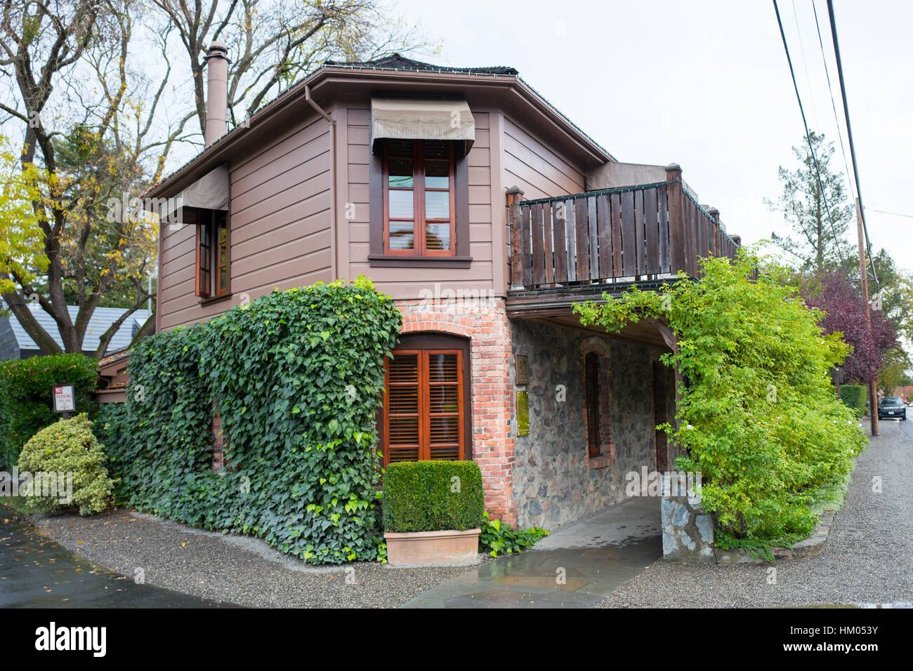 Facade Of The French Laundry Restaurant In Yountville Napa Valley Stock Photo Alamy
