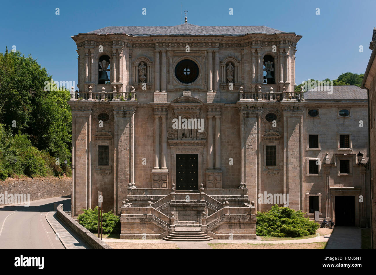 Monastery Of St Julian Of Samos Founded In The 6th Century Lugo Stock Photo Alamy