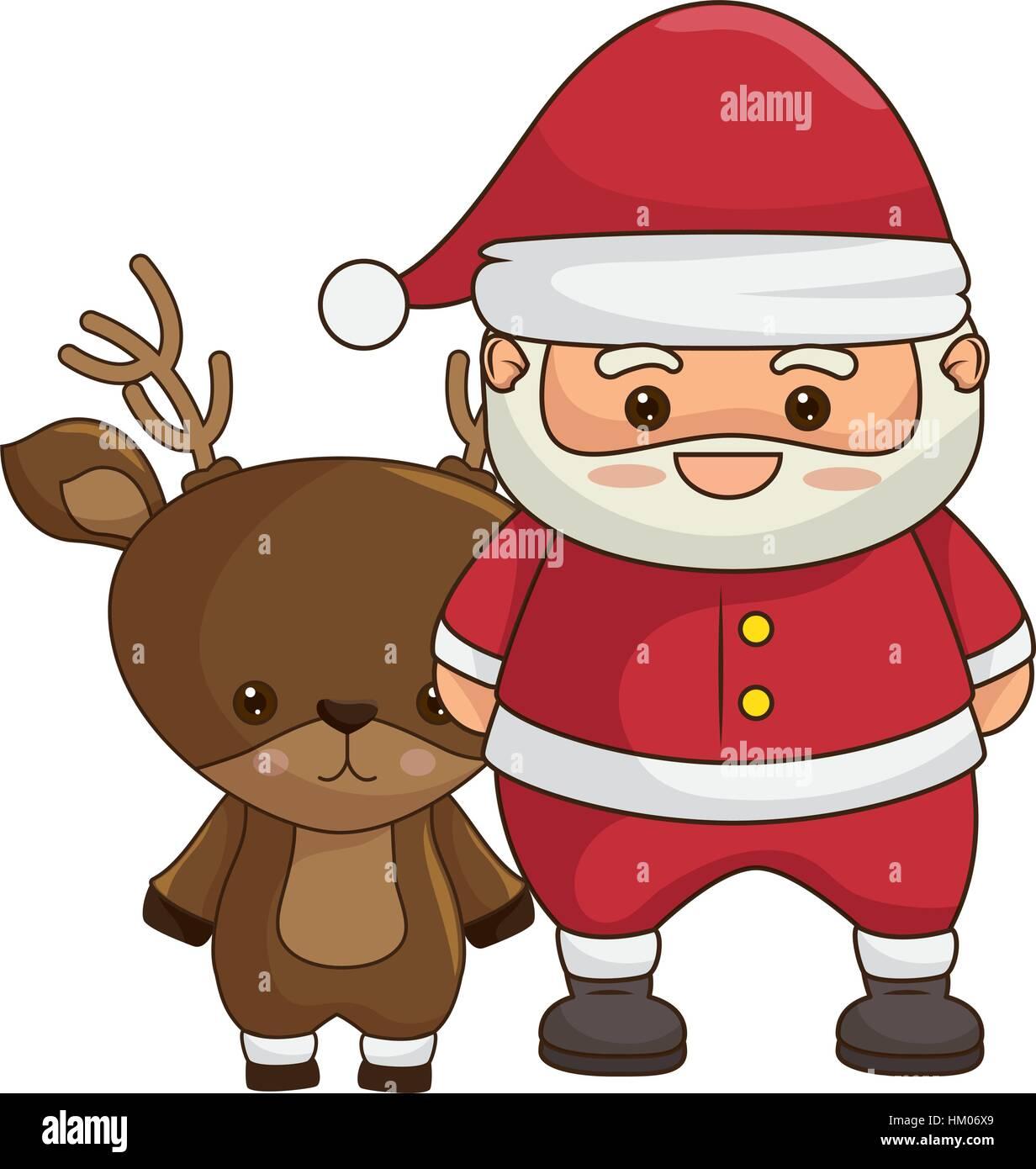 Merry Christmas Santa Claus Kawaii Stock Photos Merry Christmas