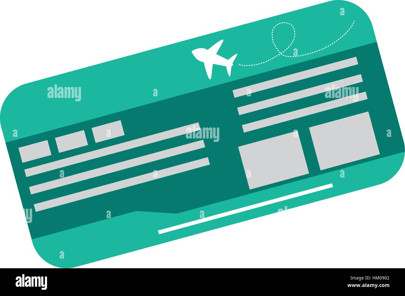 Flight Ticket Isolated Icon Vector Illustration Graphic Design