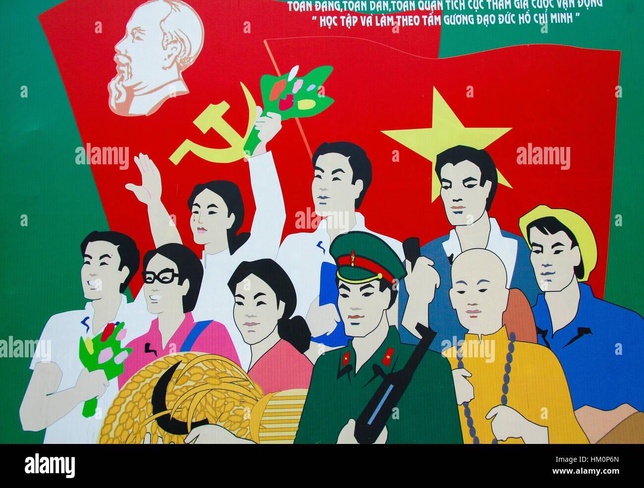 Vietnam War Propaganda Poster Stock Photos & Vietnam War