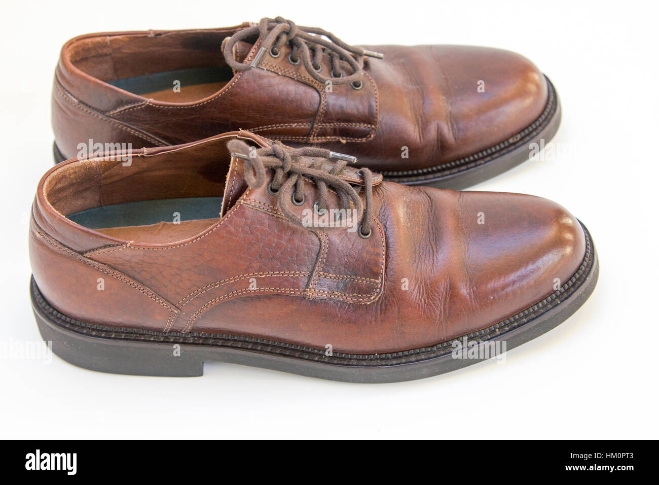 Worn Shoes - Stock Image