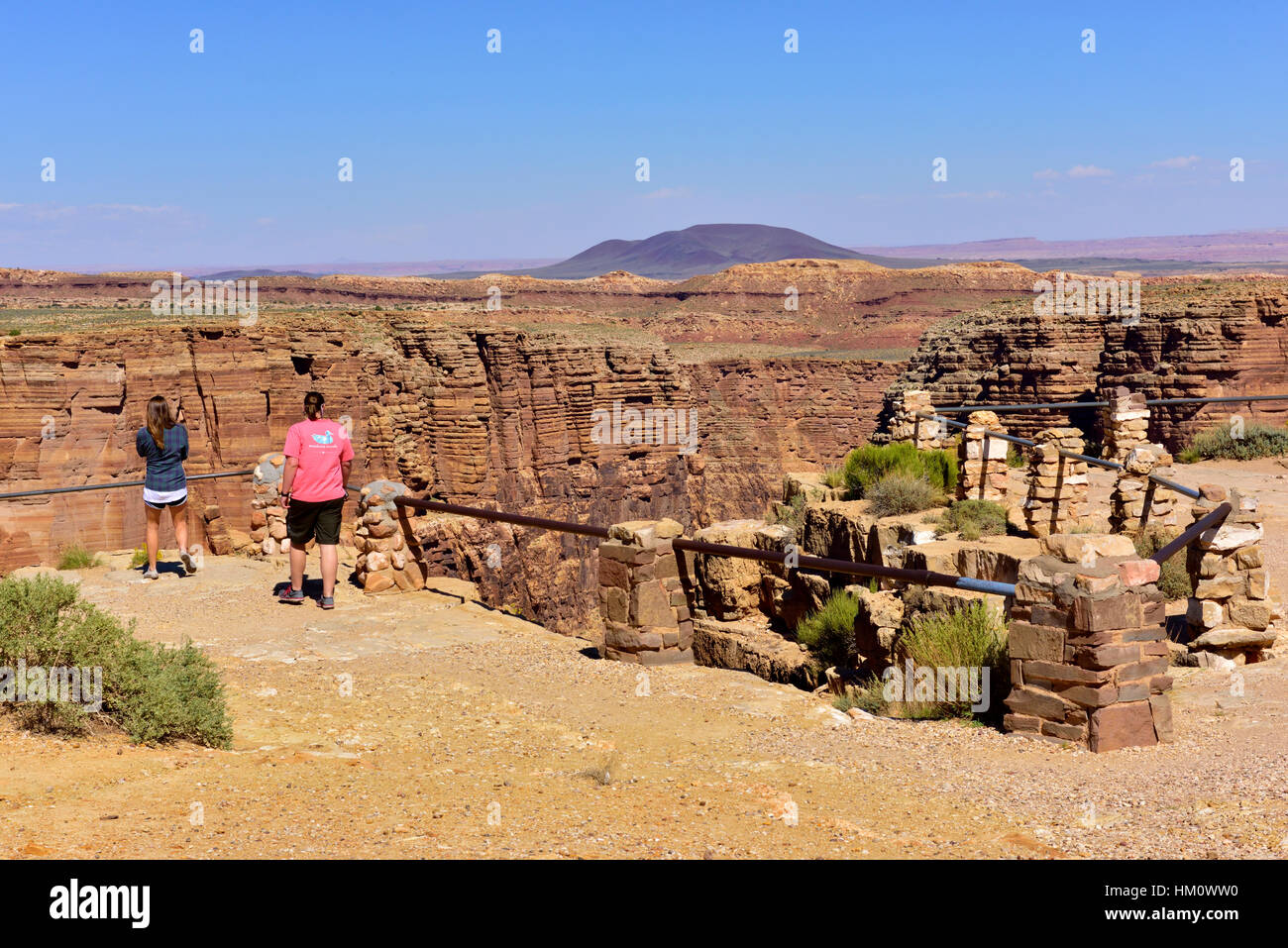 Navajo Tribal location, Little Colorado River Viewpoint at early end of Grand Canyon, Arizona - Stock Image