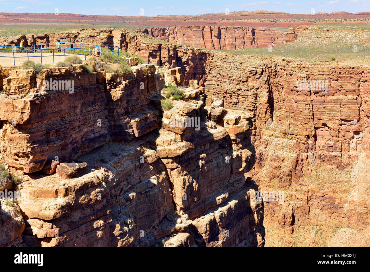 Little Colorado River Viewpoint a Navajo Tribal location, at eastern end of Grand Canyon, Arizona - Stock Image