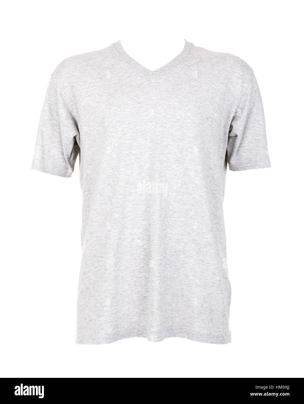 Gray T shirt template - Stock Image