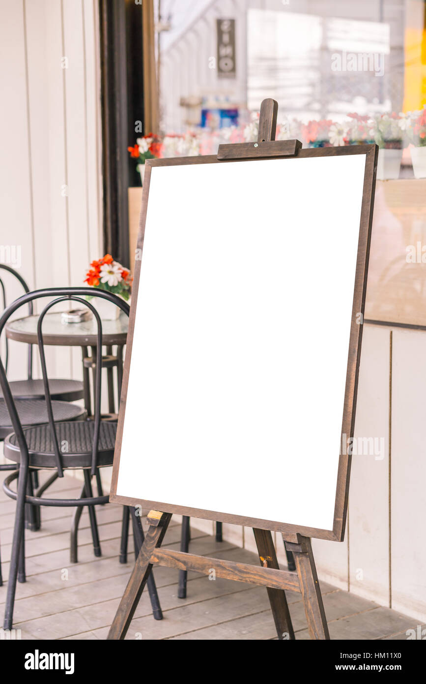 Menu frame in front of Restaurant Stock Photo: 132789160 - Alamy