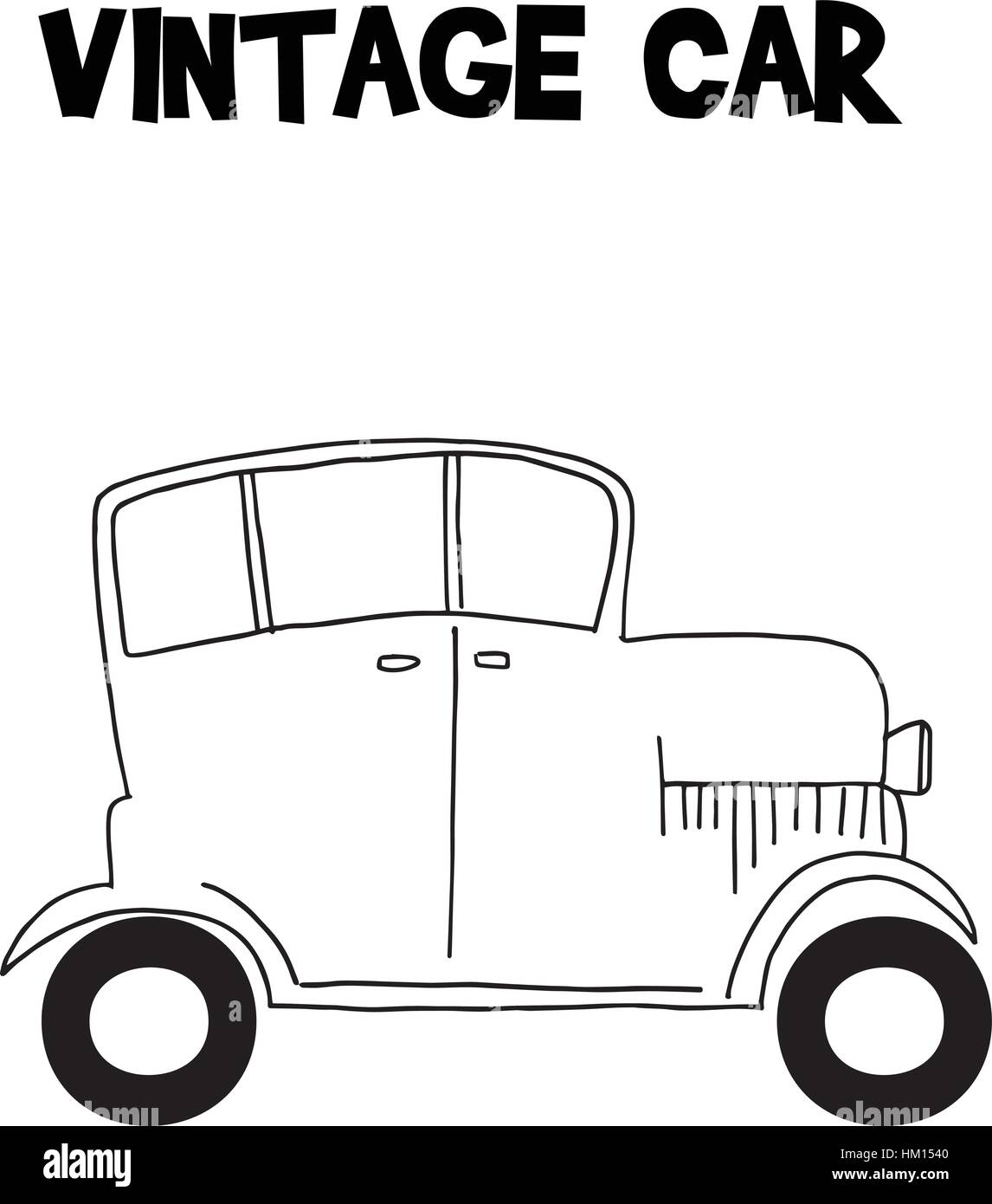 Vintage car style of transportation - Stock Vector