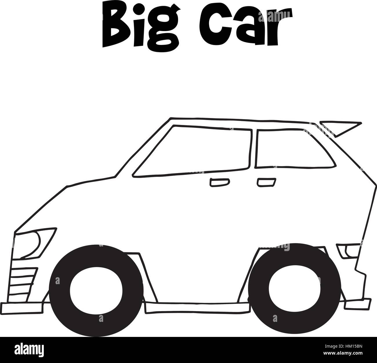 Big car vector art illustration - Stock Image