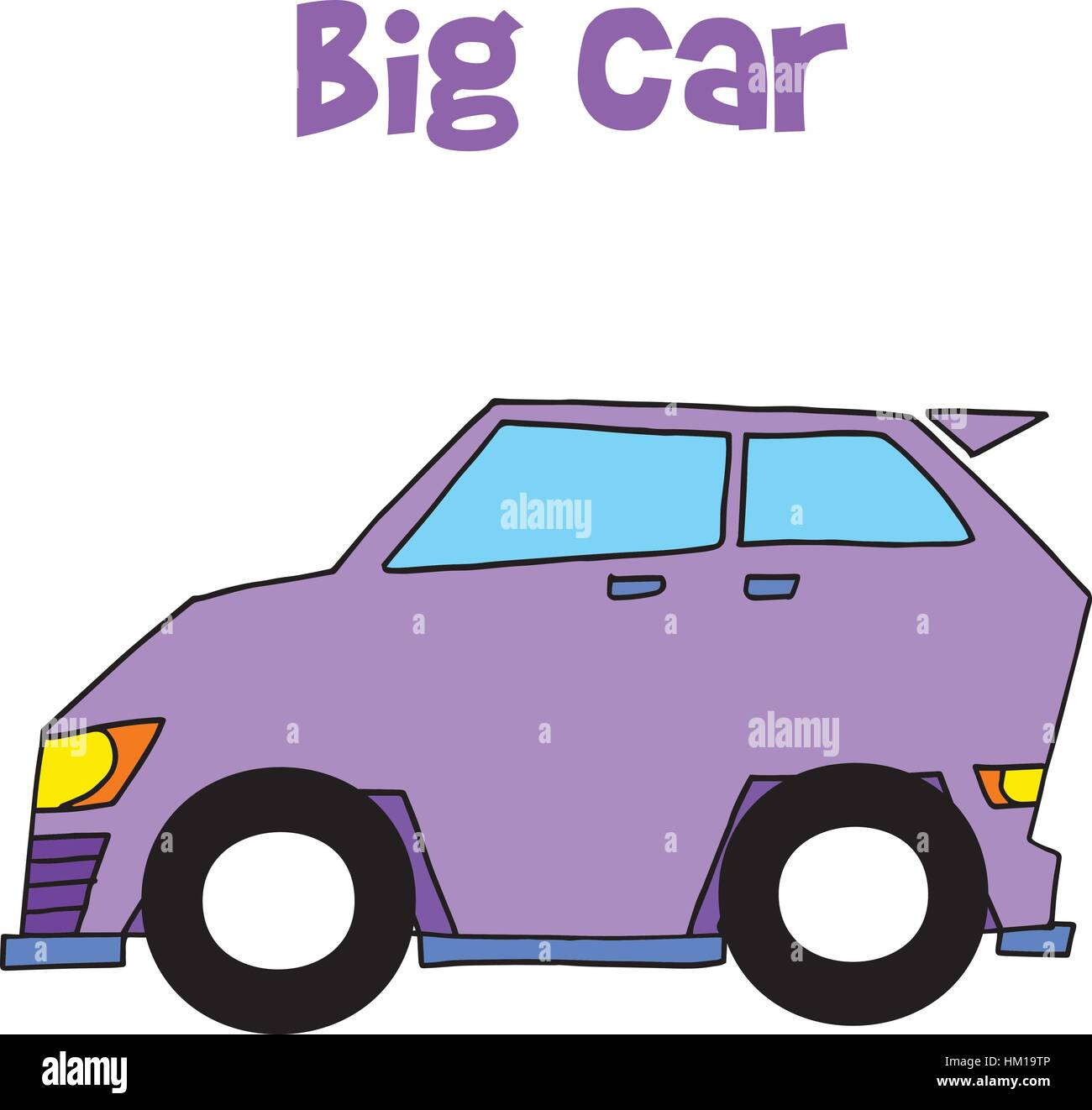 Collection of big car vector art - Stock Image