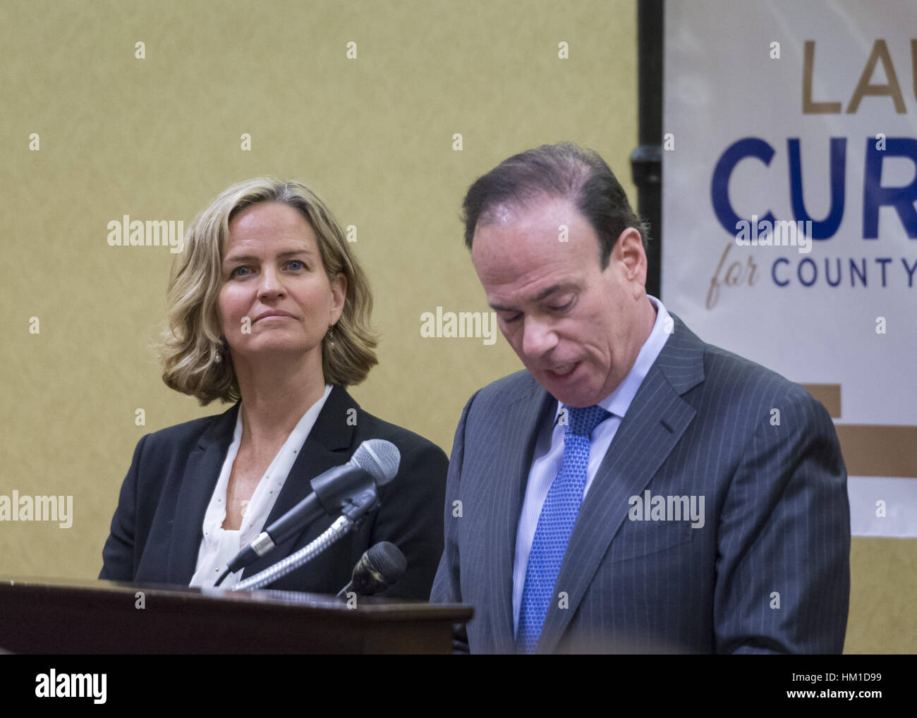 Uniondale, USA. 30th Jan, 2017. At left, Nassau County Legislator Laura Curran, 48, candidate for Nassau County Stock Photo