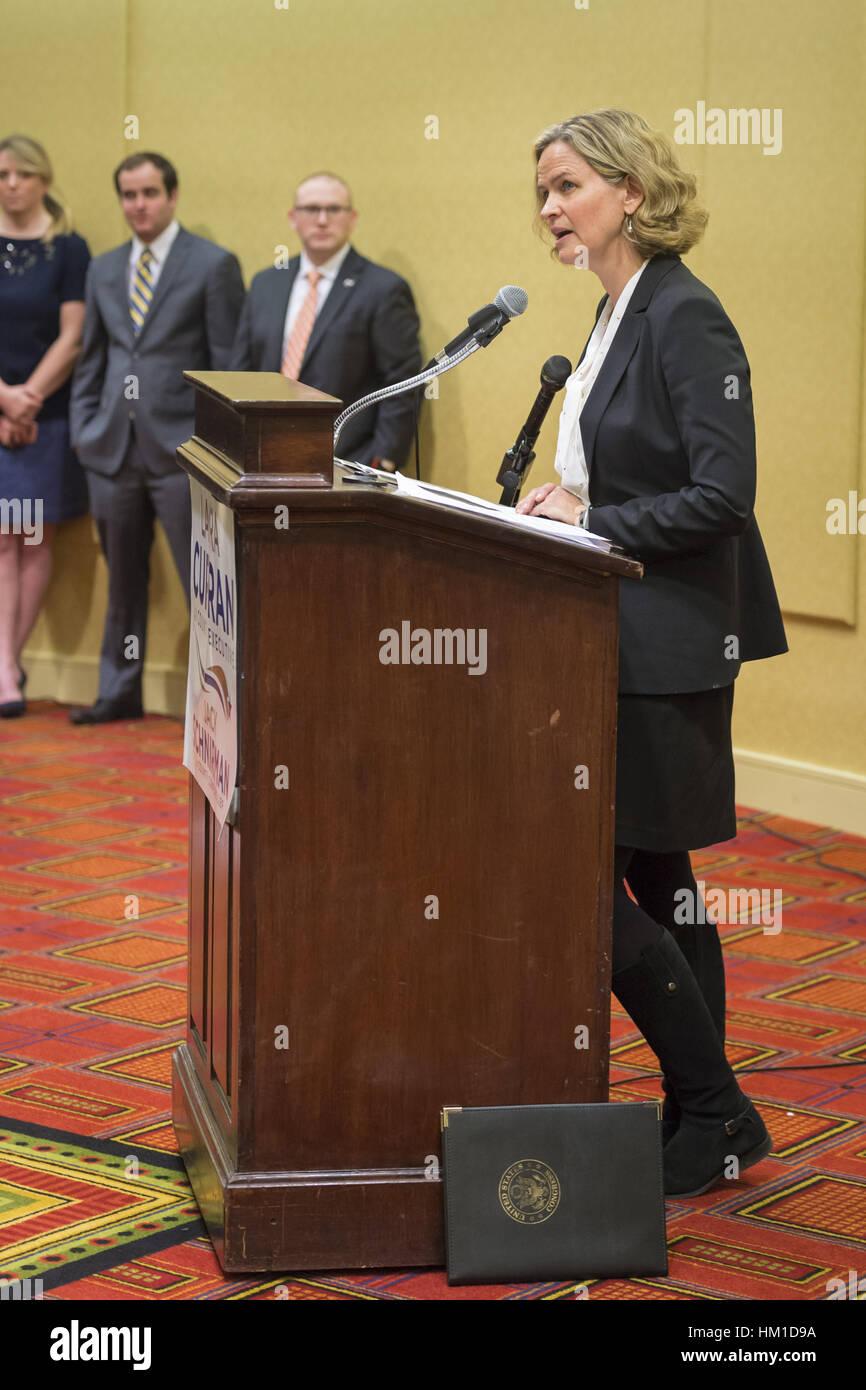Uniondale, USA. 30th Jan, 2017. Nassau County Legislator Laura Curran, 48, candidate for Nassau County Executive, - Stock Image