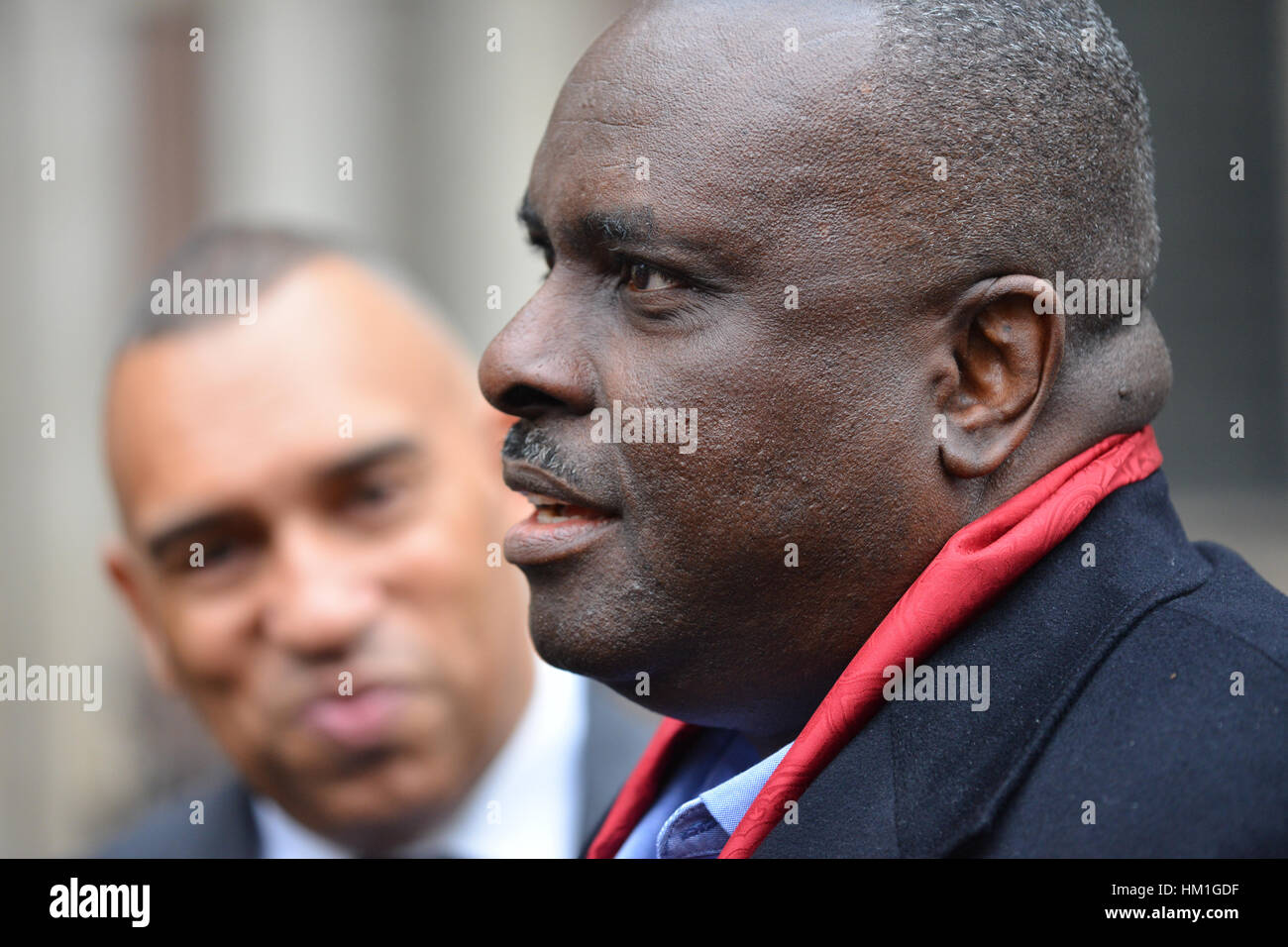 Royal Courts Justice, London, UK. 31st January 2017. Fraudster and former Nigerian state governor James Ibori outside Stock Photo