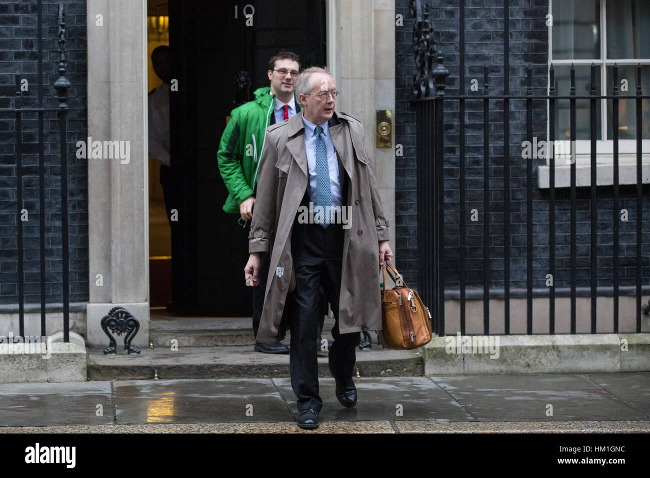 London, UK. 31st January, 2017. Myron Ebell, the controversial climate change sceptic and adviser to President Donald Stock Photo