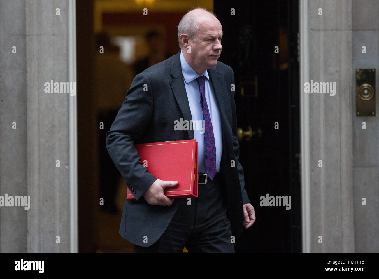 London, UK. 31st Jan, 2017. Damian Green MP, Secretary of State for Work and Pensions, leaves 10 Downing Street - Stock Image