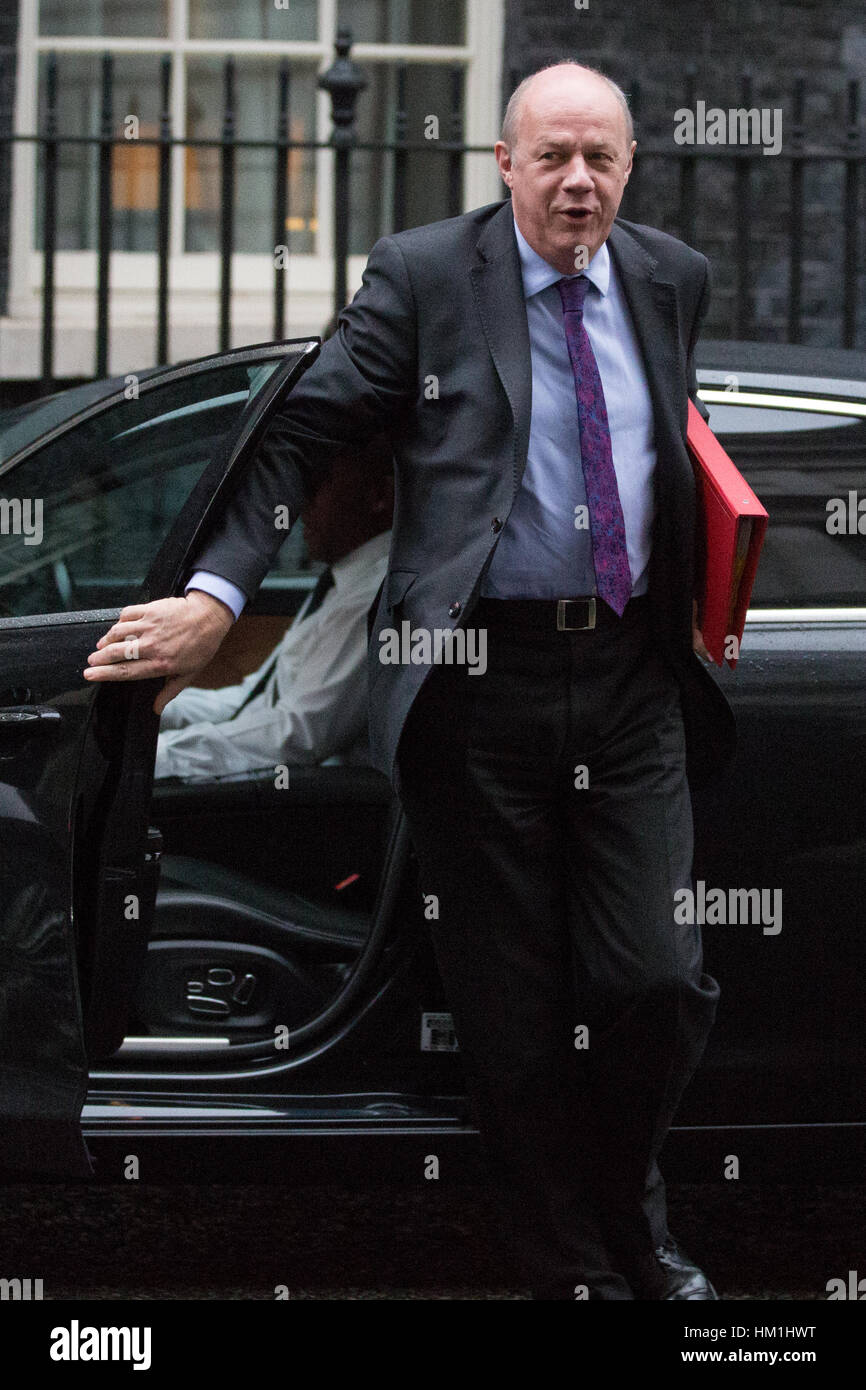 London, UK. 31st Jan, 2017. Damian Green MP, Secretary of State for Work and Pensions, arrives at 10 Downing Street - Stock Image