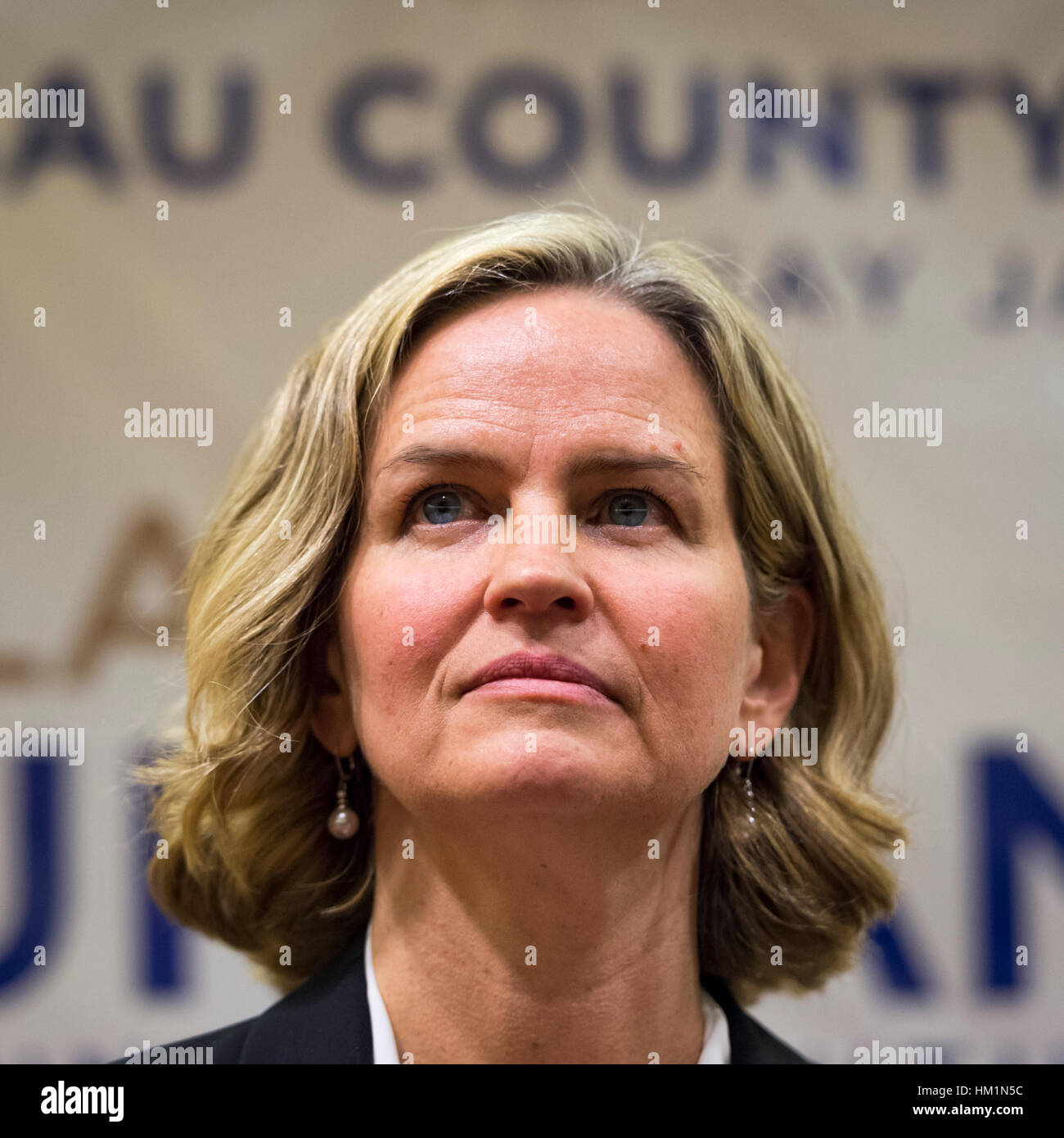 New York, USA. 30th Jan, 2017. Nassau County Legislator Laura Curran (D-Baldwin), 48, candidate for Nassau County Stock Photo