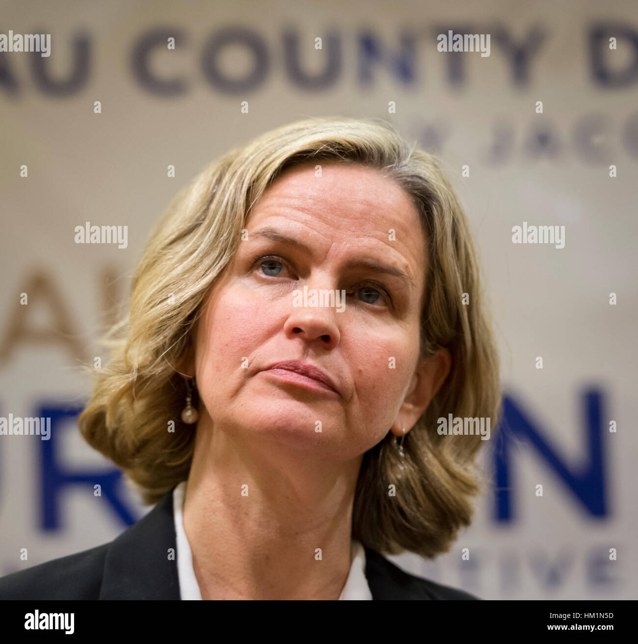 New York, USA. 30th Jan, 2017. Nassau County Legislator Laura Curran (Dem - 5D - Baldwin), 48, candidate for Nassau - Stock Image