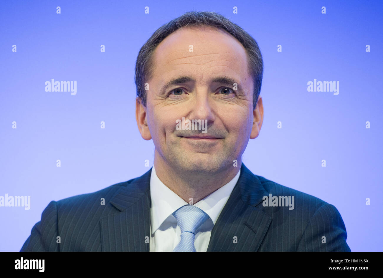 21st Jan 2014 Archive The Former Head Of The Board Of The Sap Jim Hagemann Snabe Sits During A Press Conference In Walldorf Germany