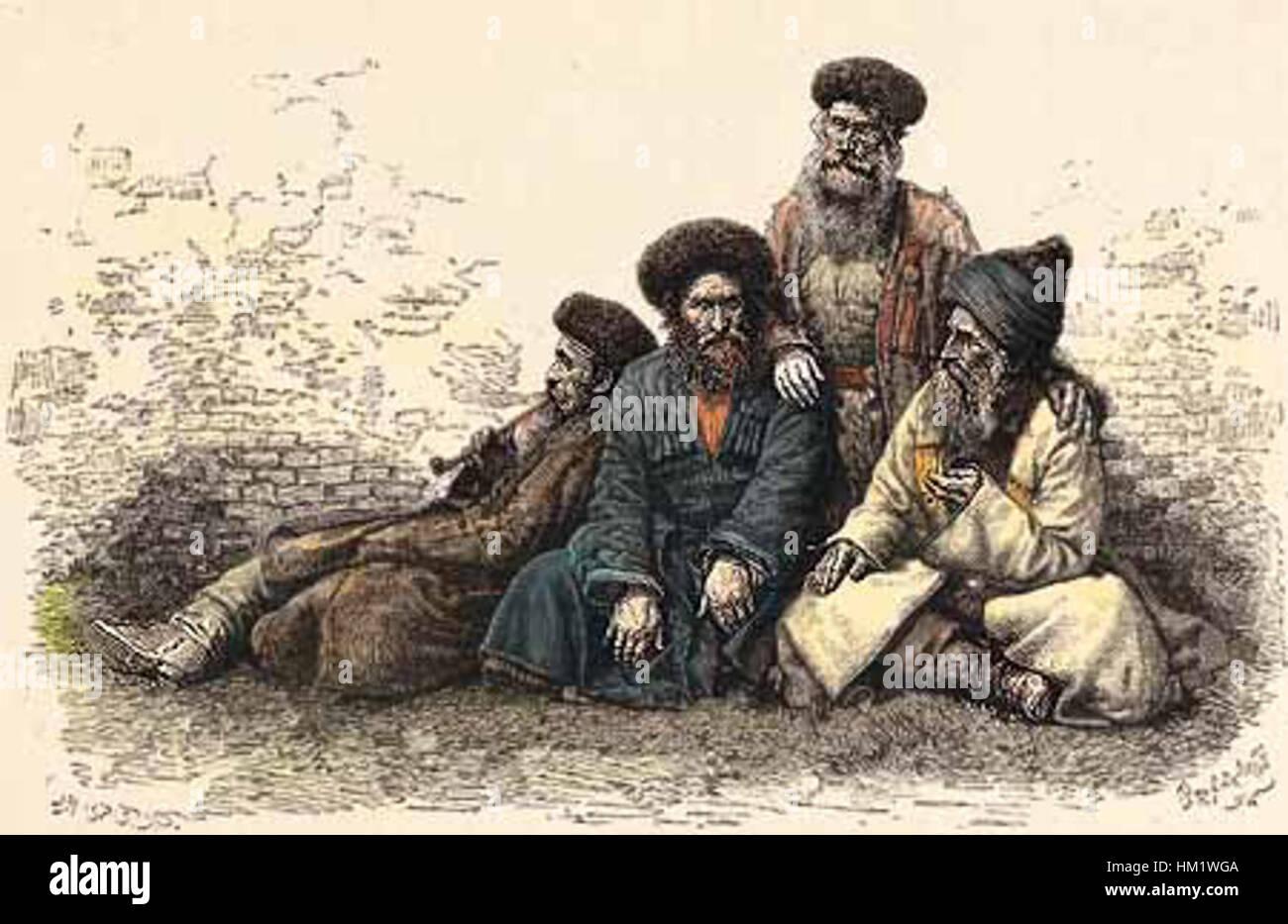 Jews of Caucasus (1881) - Stock Image