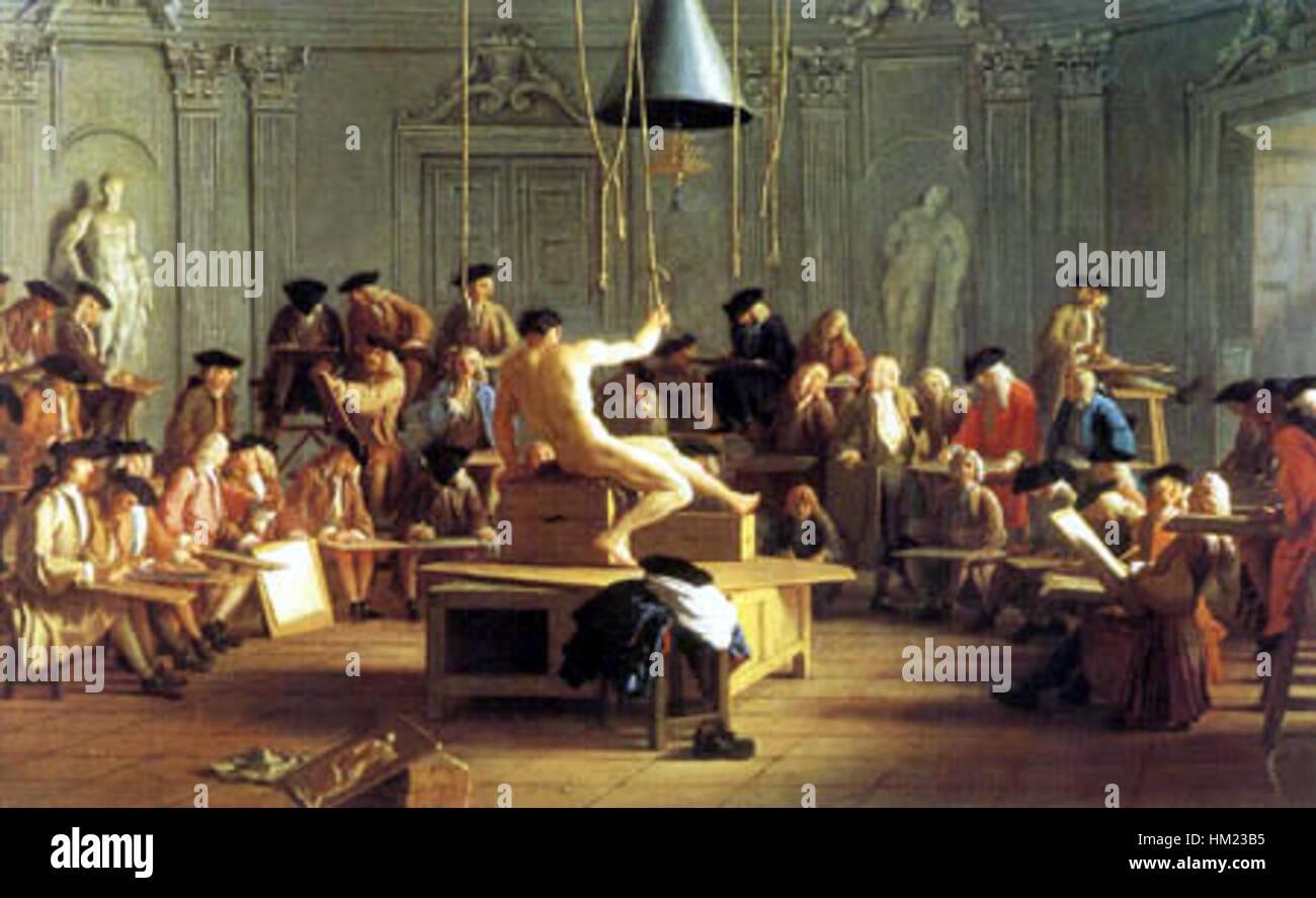 Houasse, Michel-Ange - In der Kunstschule - 1728 - Stock Image