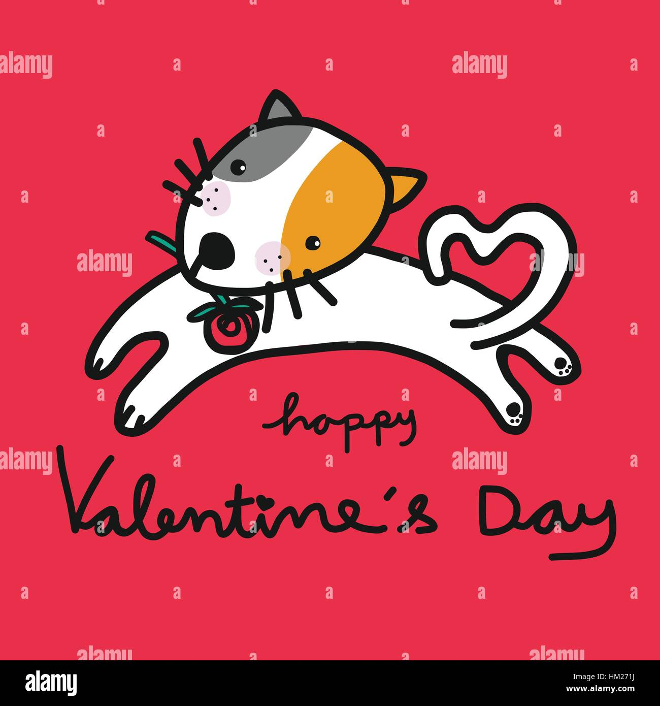 Cartoon Dog Valentines Day High Resolution Stock Photography And Images Alamy