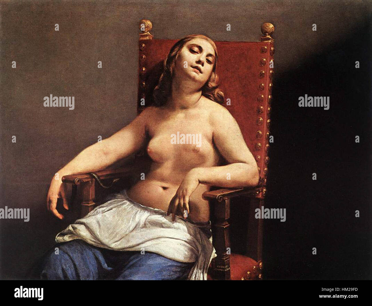 Guido Cagnacci - The Death of Cleopatra - WGA3757 Stock Photo - Alamy