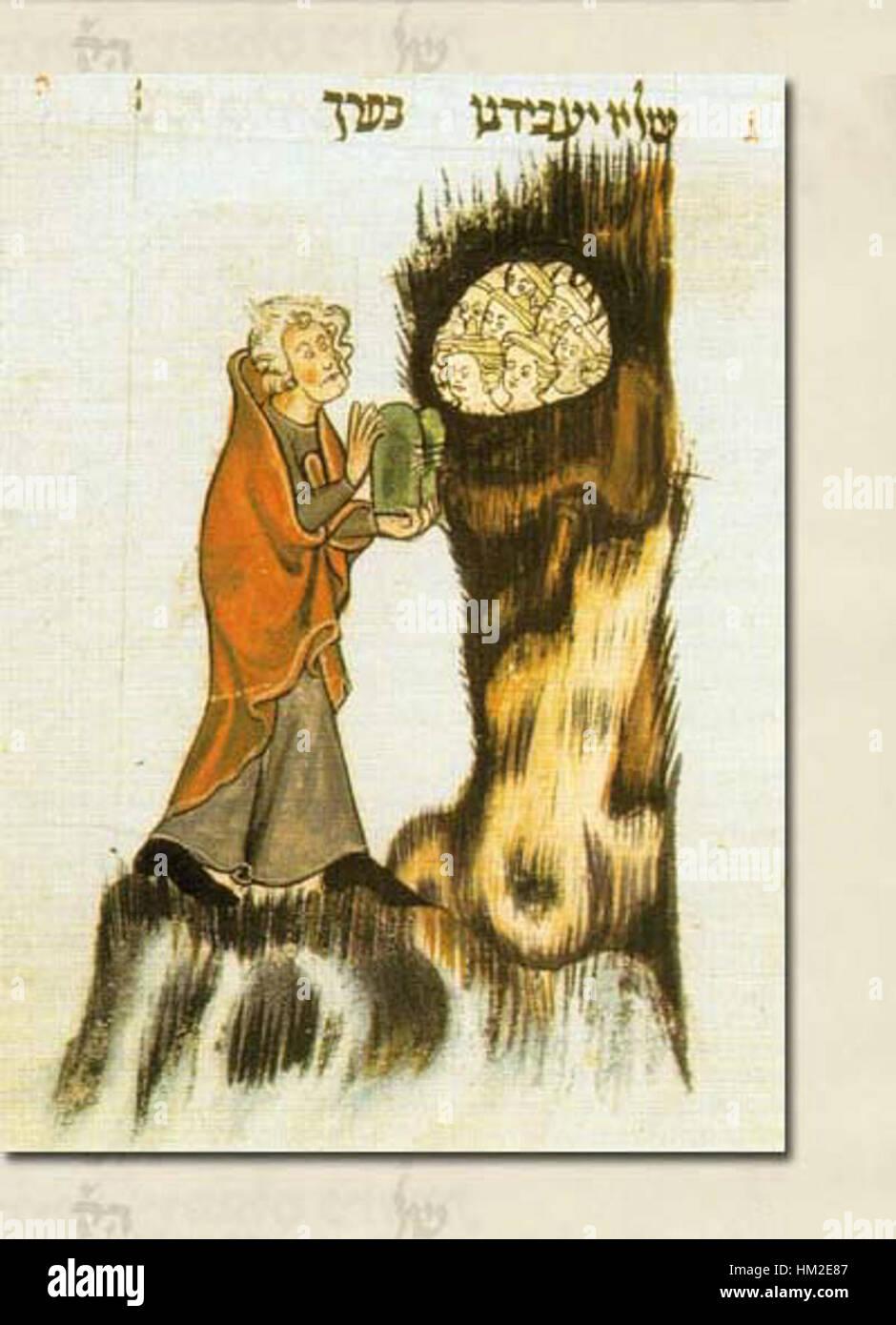 Illustration-mishneh-torah-moses-en - Stock Image