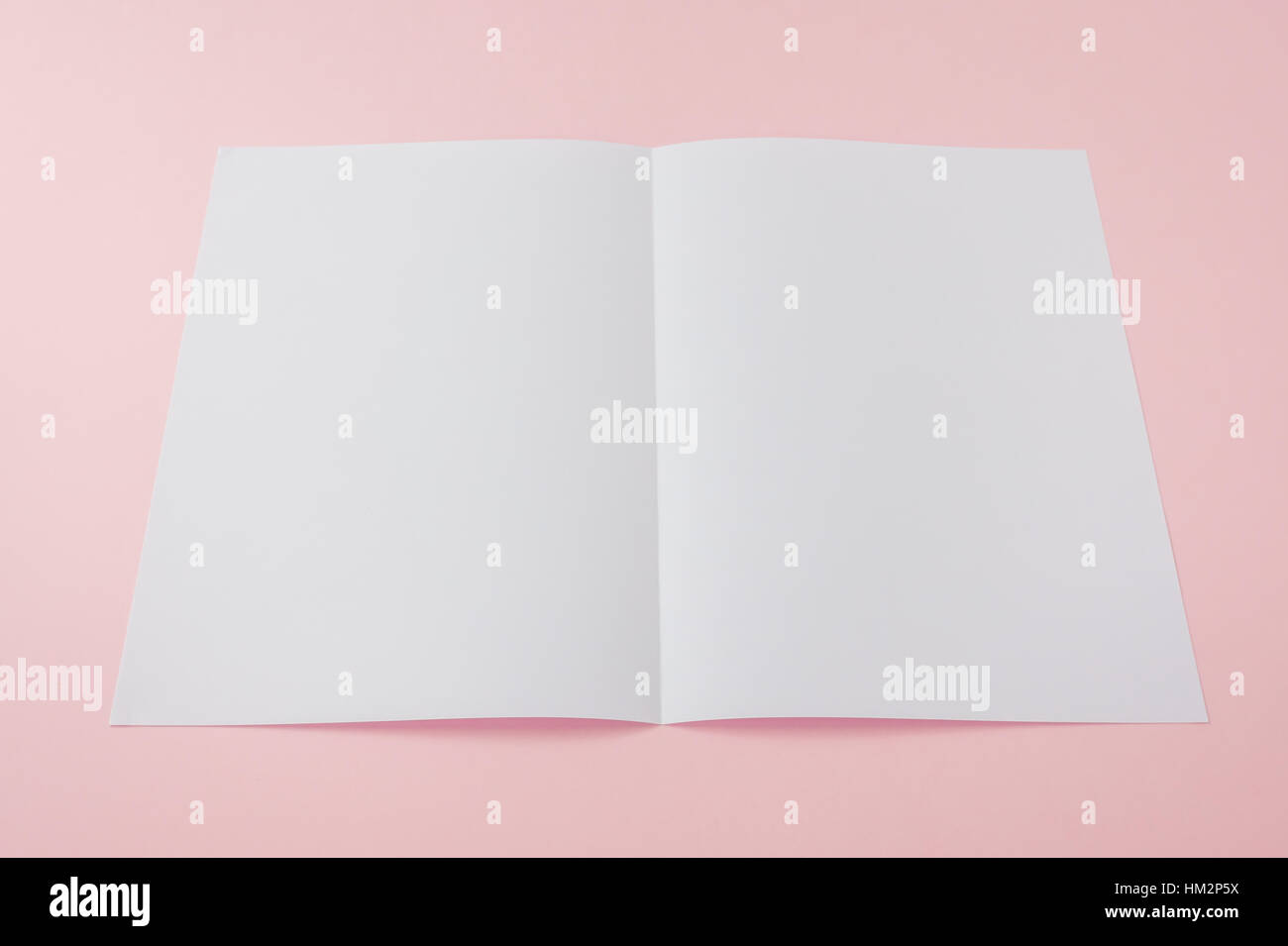 bifold white template paper stock photo 132827014 alamy