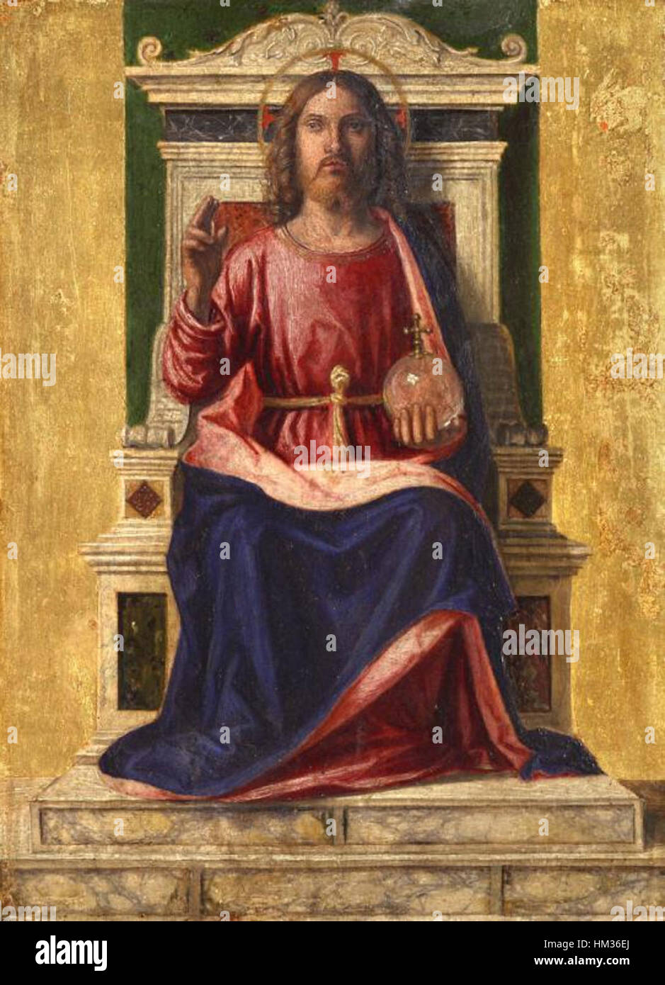 Jesus christ on the throne by cima da conegliano stock photo jesus christ on the throne by cima da conegliano altavistaventures Choice Image