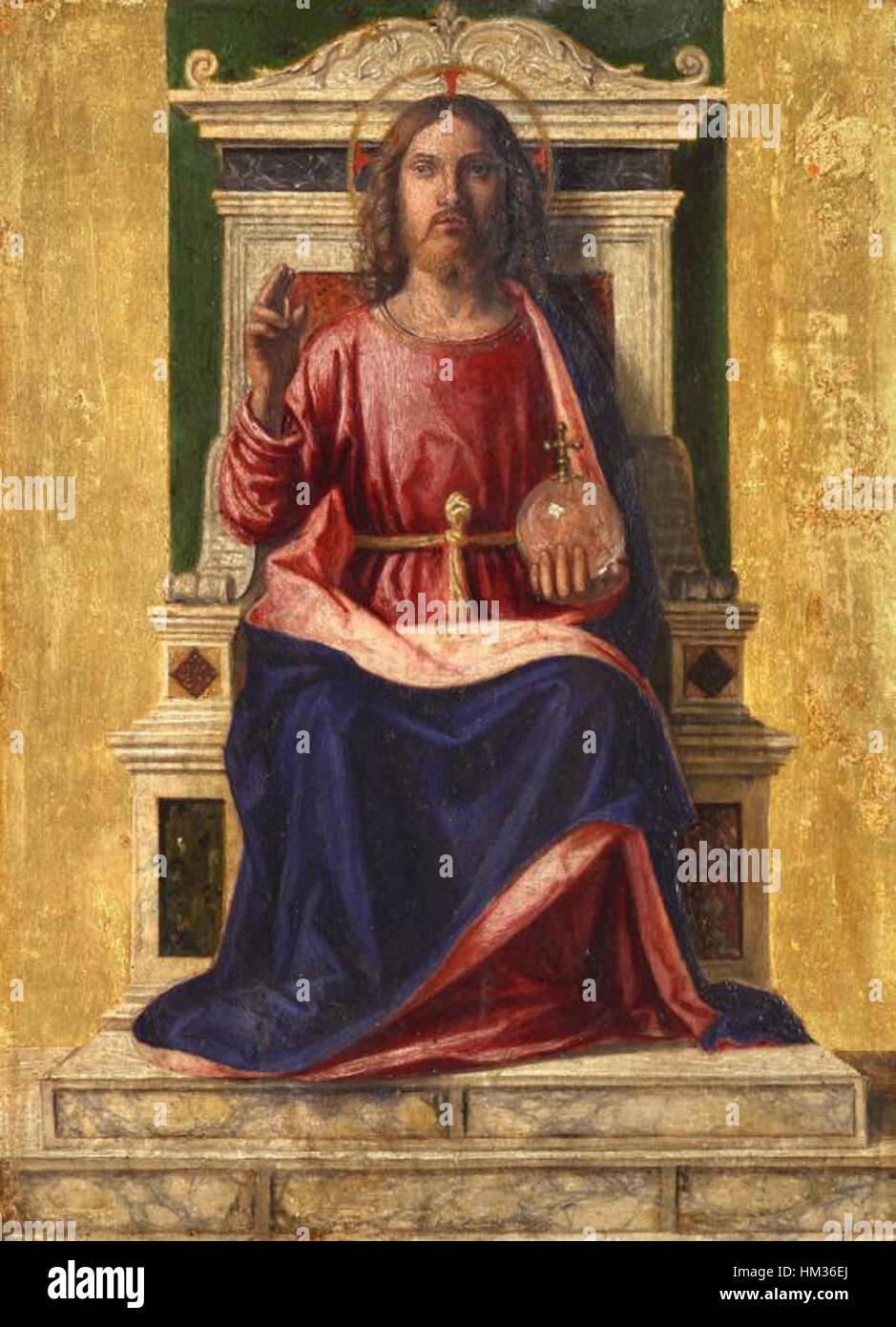 Jesus christ on the throne by cima da conegliano stock photo jesus christ on the throne by cima da conegliano thecheapjerseys Choice Image