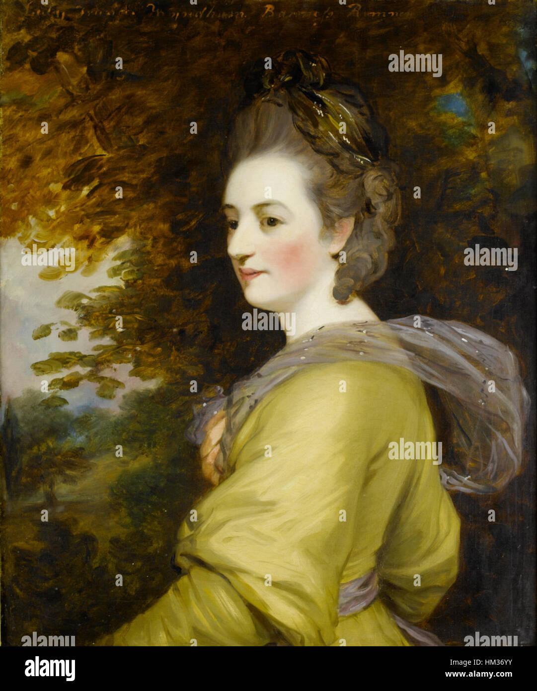 Lady Frances Wyndham, attributed to John Hoppner - Stock Image
