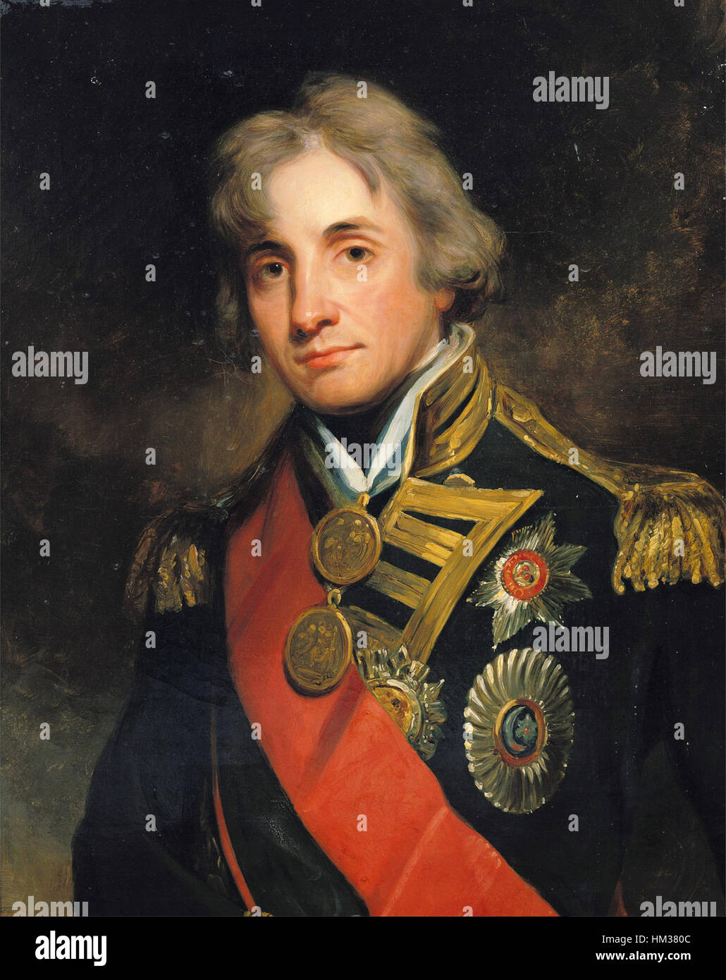 Admiral Nelson Painting Stock Photos