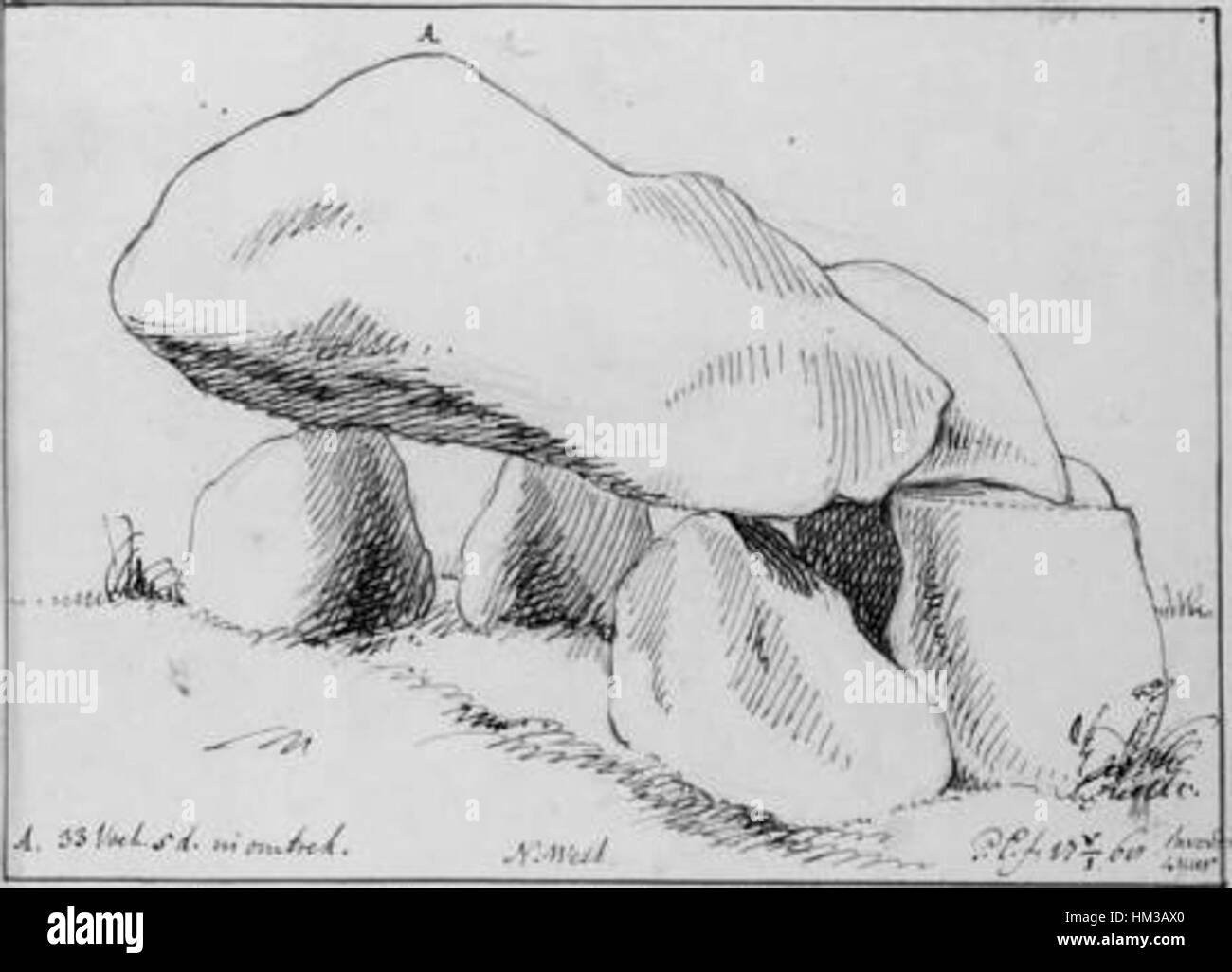 Hunebed G1 door Petrus Camper 1768 - Stock Image