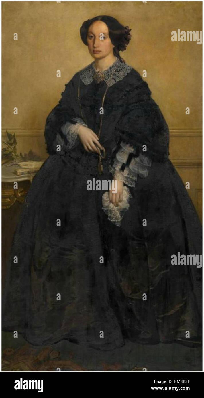 Joseph Lies - Mrs Henri Leys-Van Haren - Stock Image