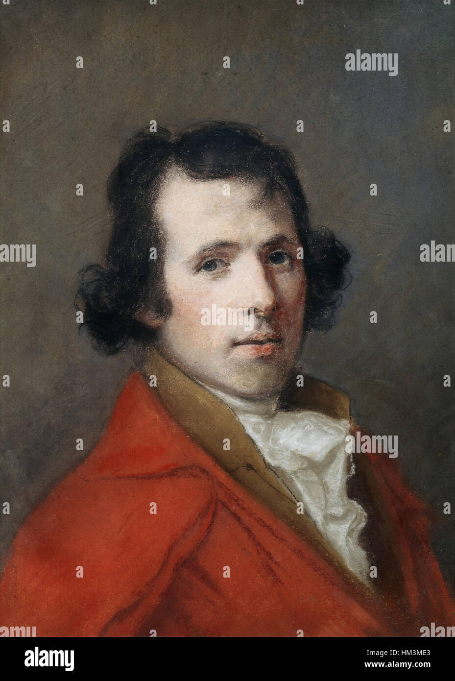 Hugh Douglas Hamilton - Portrait of Antonio Canova - Stock Image