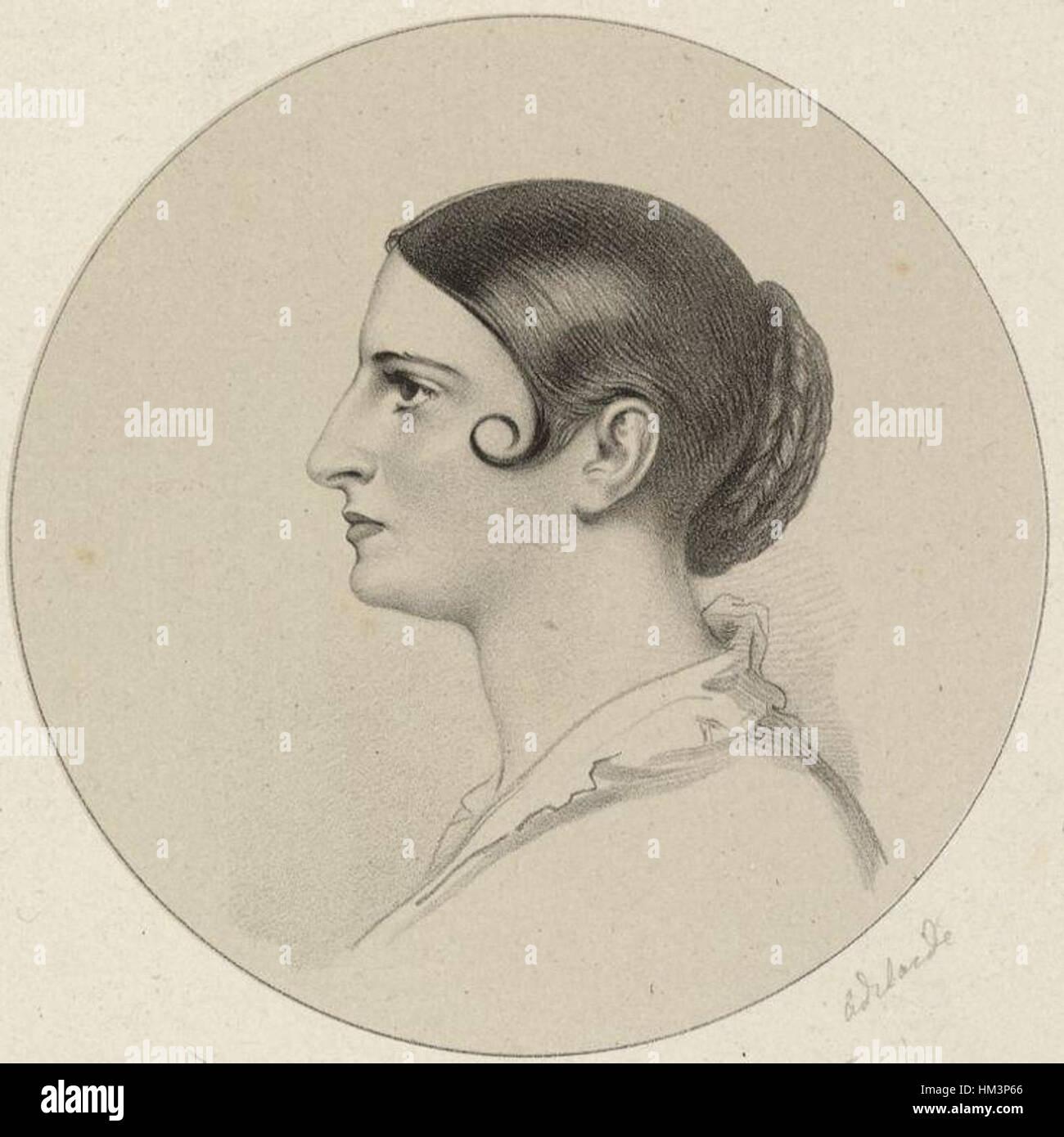 Adelaide Kemble by Richard James Lane - Stock Image