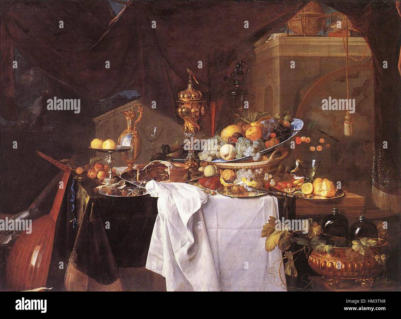 Jan Davidsz. de Heem - A Table of Desserts - WGA11289 Stock Photo