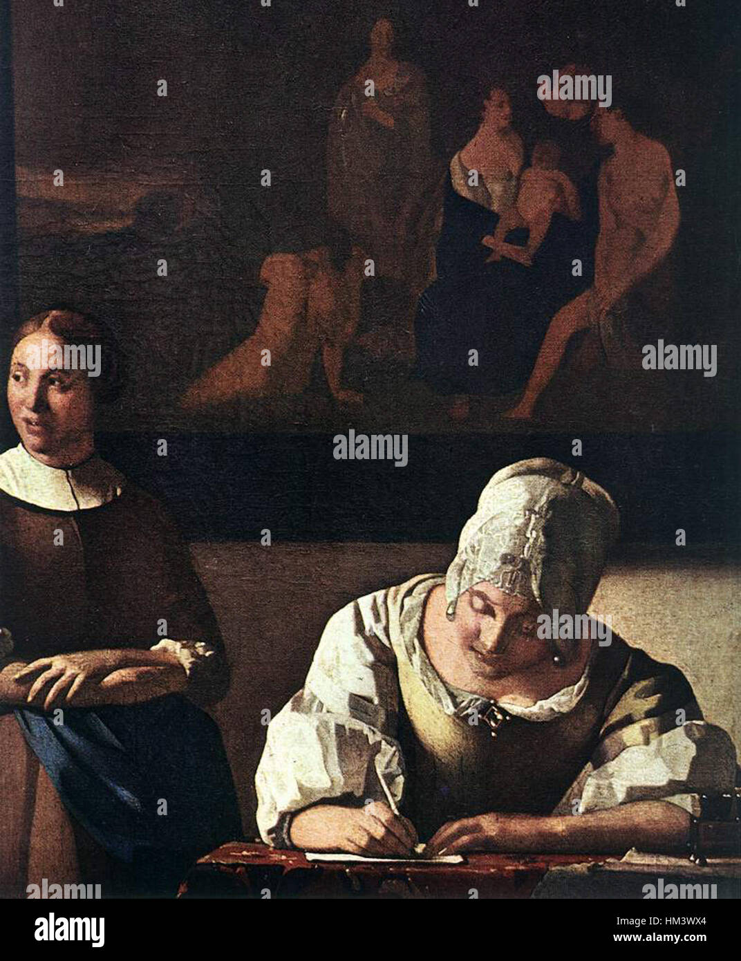 Johannes Vermeer Lady Writing a Letter with Her Maid detail